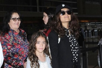 Salma Hayek Salma Hayek & Daughter Departing On A Flight At LAX