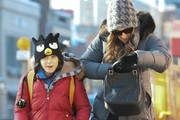 'Sex And The City Star' Sarah Jessica Parker walks her son James to school in New York City, New York on February 12, 2014.