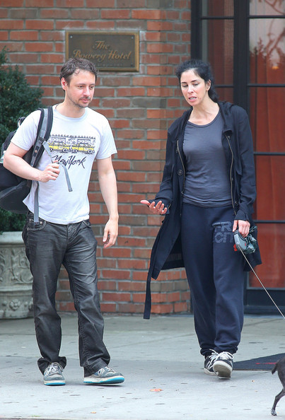 Sarah Silverman Walks Boyfriend And Her Dog