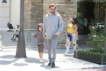 Scott Disick Penelope Disick Kim Kardashian, Kanye West, and North West See 'Finding Dory'