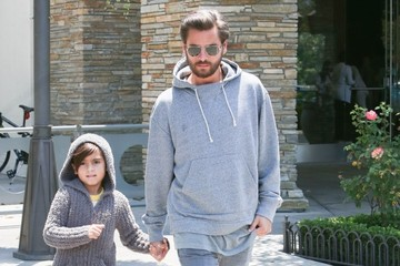 Scott Disick Kim Kardashian, Kanye West, and North West See 'Finding Dory'