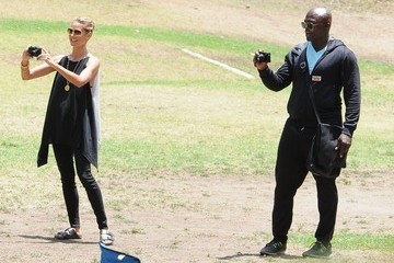 Seal Heidi Klum & Seal Watch Their Kids Soccer Game