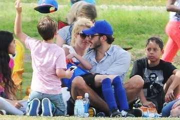Sean Preston Federline Britney Spears Watches Her Boys Play Soccer With Her Boyfriend