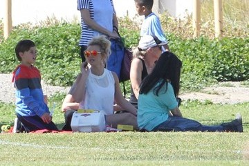 Sean Preston Federline Britney Spears Watching Her Boys Play Soccer