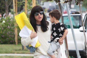 Selma Blair Selma Blair Out and About With Her Son