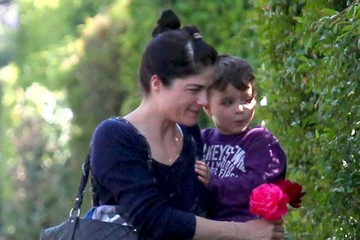 Selma Blair Selma Blair and Son Arthur Stop by a Friend's House