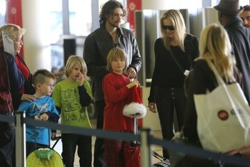 Sharon Stone Laird Stone Sharon Stone And Family Departing On A Flight At LAX