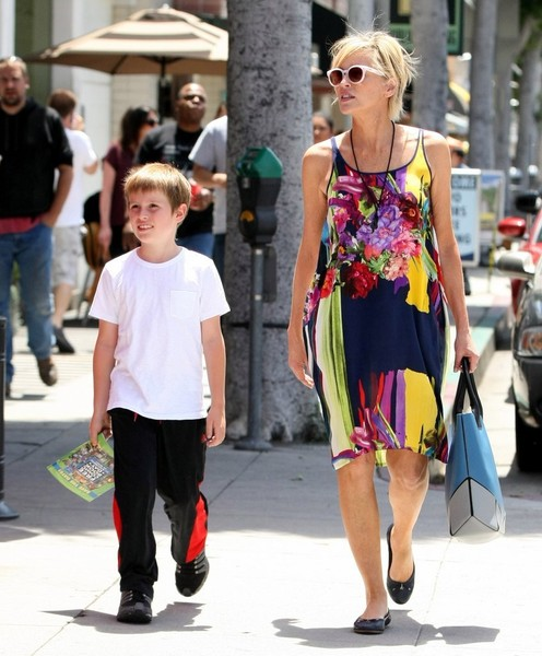 Sharon Stone Out and About With Her Son