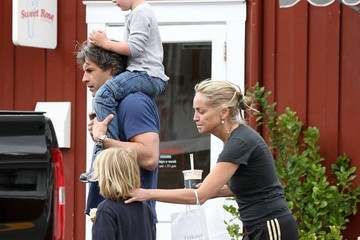 Sharon Stone Quinn Stone Sharon Stone Grabs Ice Cream with Her Two Sons