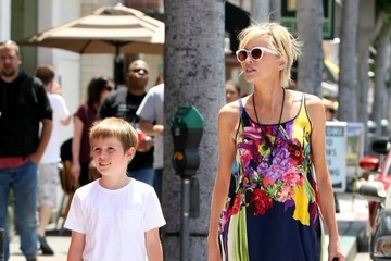 Sharon Stone Sharon Stone Out and About With Her Son