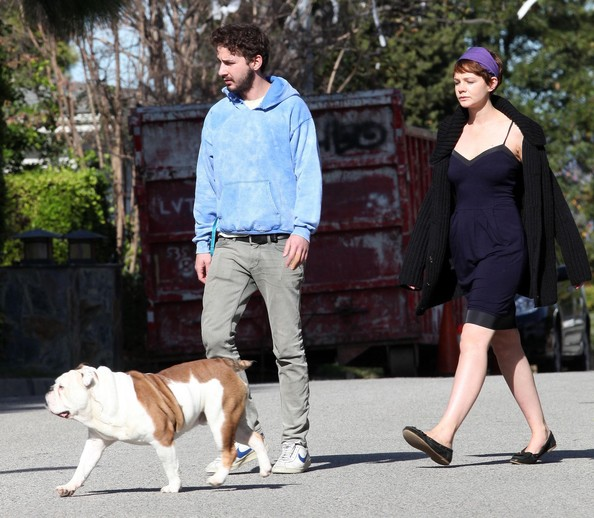 Photo of Shia LaBeouf & his  Dog Jared