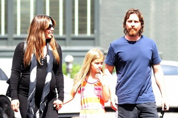 Sibi Blazic Christian Bale & Family Lunch In Brentwood