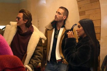 Simon Huck Kim Kardashian Goes Out With Her Kids and Friends in NYC
