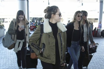 Sistine Stallone Scarlet Stallone Stallone Daughters and Jennifer Flavin Depart LAX