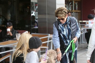 Skyler Berman Rachel Zoe Stops By Coffee Bean With Her Son