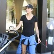 Skyler Perri Elisabetta Canalis For A Walk WIth Her Baby And Dog