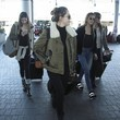 Sophia Stallone Stallone Daughters and Jennifer Flavin Depart LAX