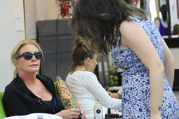 Sophie Simmons Shannon Tweed Takes Her Daughter To The Nail Salon In Beverly Hills