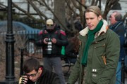 Stars on set of 'Glee' in New York City, New York on March 14, 2014.<br /> <br /> Pictured: Chord Overstreet, Kevin McHale