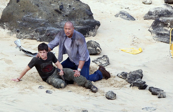 "Stars On Set Of ""Journey 2: The Mysterious Island ..."