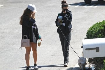 Stella Hudgens Vanessa Hudgens And Sister Walk The Dog And Get Some Drinks