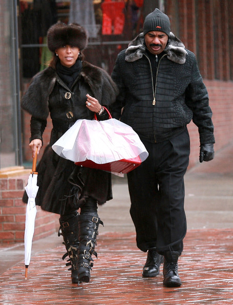 Steve Harvey Actor Steve Harvey and his wife Marjorie Bridges out