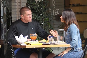 Steve Howey Steve Howey and Sarah Shahi Go Out for Lunch in Beverly Hills