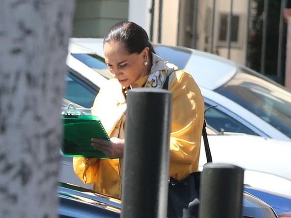 Susana Dosamantes Rents a Car in Beverly Hills