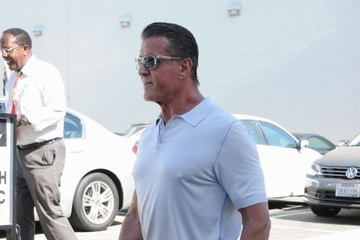 Sylvester Stallone Sylvester Stallone and Mickey Rourke Greet Fans in Beverly Hills