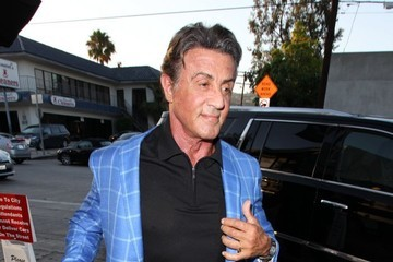 Sylvester Stallone Celebrities Dine Out at Craig's Restaurant