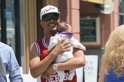 T.I. & Daughter Out Shopping In Beverly Hills