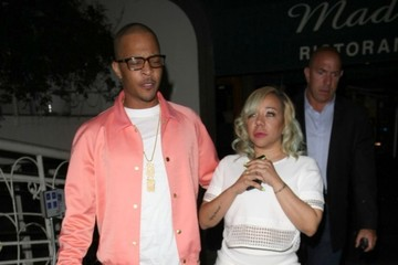 Tameka Cottle Celebrities Dine Out at Madeo Restaurant