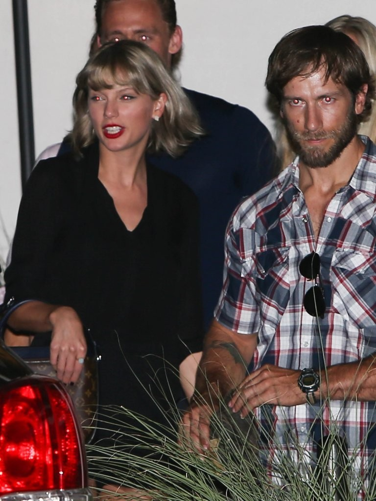 Swift and Hiddleston are seen out with friends in Nashville.