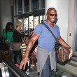 Isaiah Crews Terry Crews Arrives at LAX with His Kids