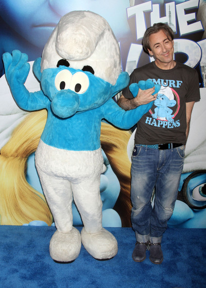 "Celebrities at the world premiere of ""The Smurfs"" in New York City, NY."