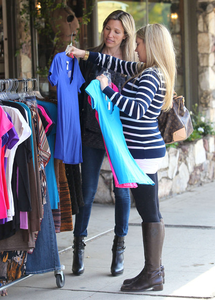"Tiffany Thornton ""Sonny With A Chance"" actress Tiffany Thornton and celebrity designer Wendy Bellissimo out shopping for her babies room in Los Angeles, California on March 6, 2012. Tiffany is expecting her first child with husband Christopher Carney"
