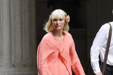 Tilda Swinton Celebrities Perform on the Set of 'Okja'