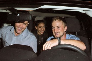 Tom Felton Celebs Get Dinner at Craig's