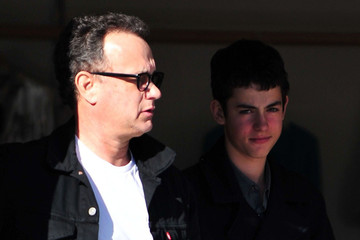 Truman Hanks Tom Hanks And Son At The Brentwood Country Mart