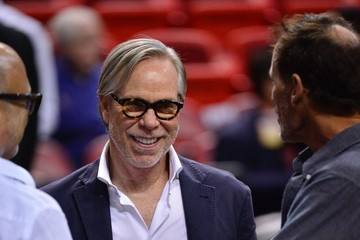 Tommy Hilfiger Celebrities At The Miami Heat Game