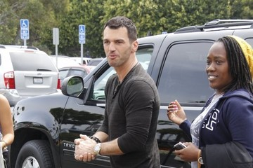 Tony Dovolani Celebs Stop by the 'Extra' Set