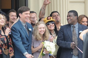 Tracy Morgan Ed Helms Celebrites On The Set Of 'The Clapper' In LA
