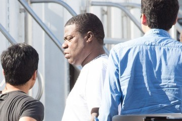Tracy Morgan Amanda Seyfried And Ed Helms On The Set Of 'The Clapper'