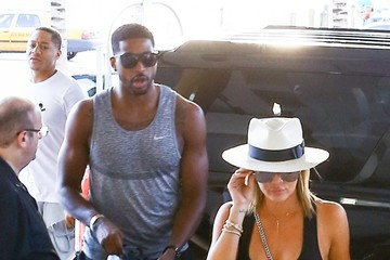 Tristan Thompson Khloe Kardashian and Tristan Thompson Meet Kim Kardashian for Lunch in Miami