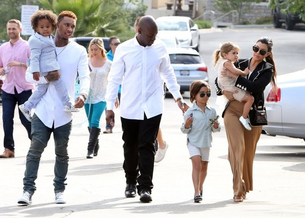 Kanye West And Mason Disick