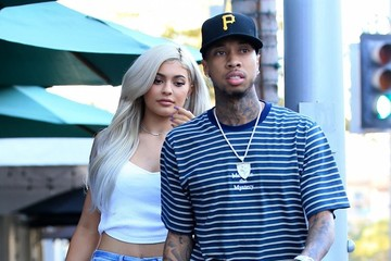 Tyga Kylie Jenner and Tyga Grab Lunch in Beverly HIlls