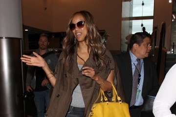 Tyra Banks Tyra Banks Departs From LAX