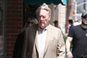 Vin Scully Goes Shopping In Beverly Hills