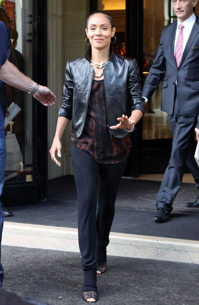 Smith seen leaving the Hotel George V in Paris, France on May 12, 2012