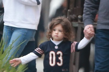 Wyatt Kutcher Mila Kunis and Ashton Kutcher Take Their Daughters to Breakfast in Beverly Hills